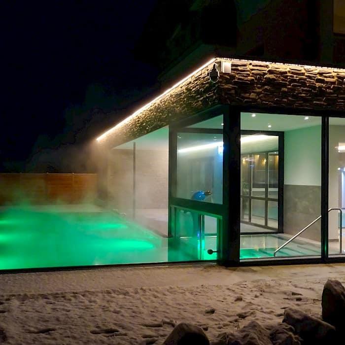 Hotel Römerhof Fusch - Aussenpool - Winter